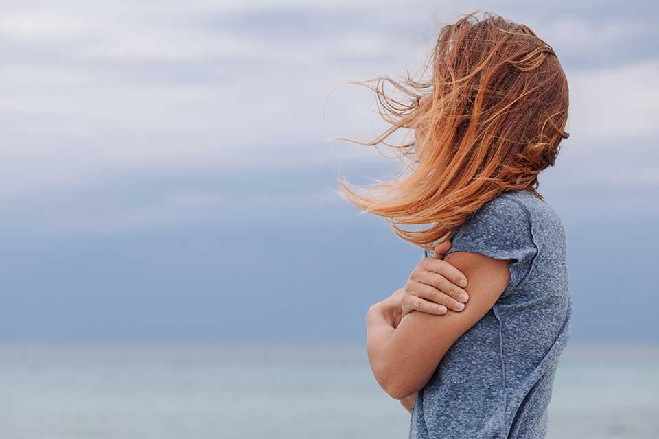 Woman Looking to Horizon